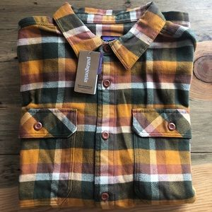 Patagonia Men's Fjord Flannel Shirt, Wren Gold
